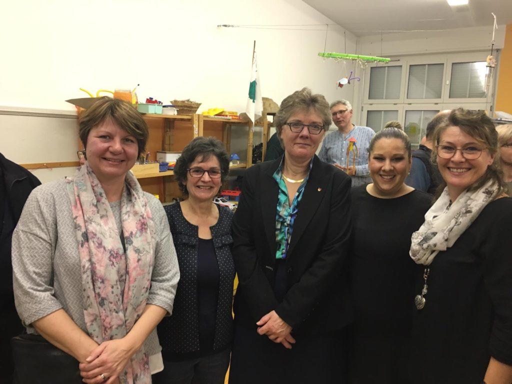 Mitarbeiterinnen der Verwaltung: Claudia Henz, Ruth Jeker, Susanne Koch, Carmen Oruc-Haberthür