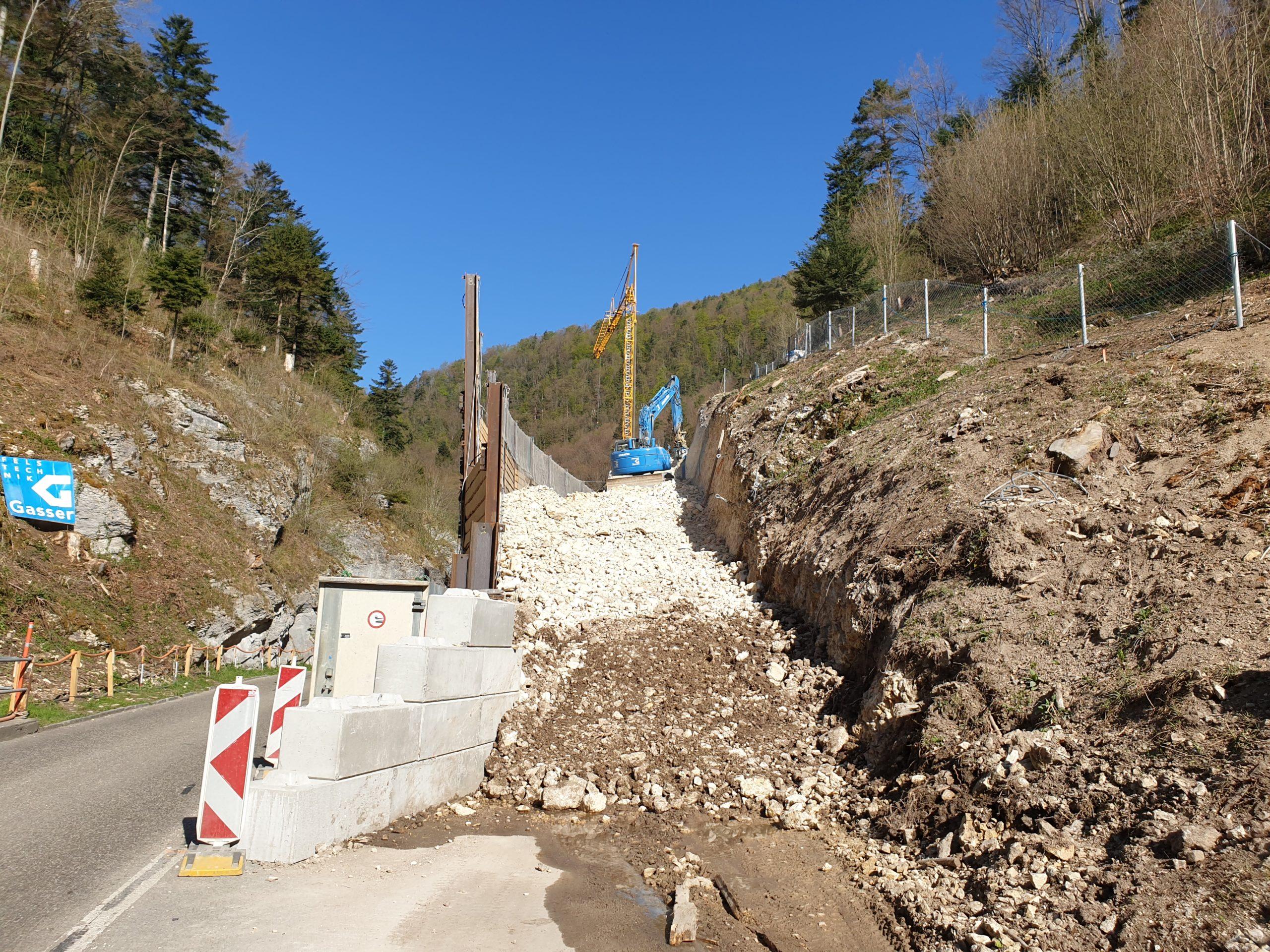 Lange Brücke Felsabtrag